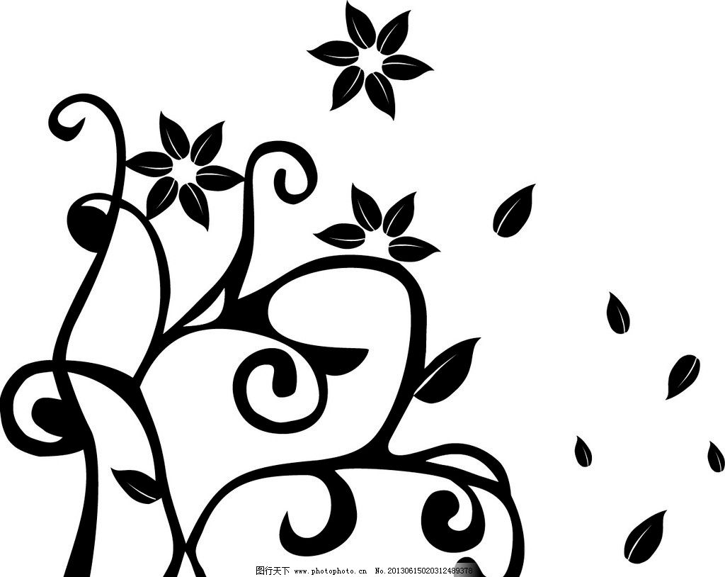 各种花藤的简笔画
