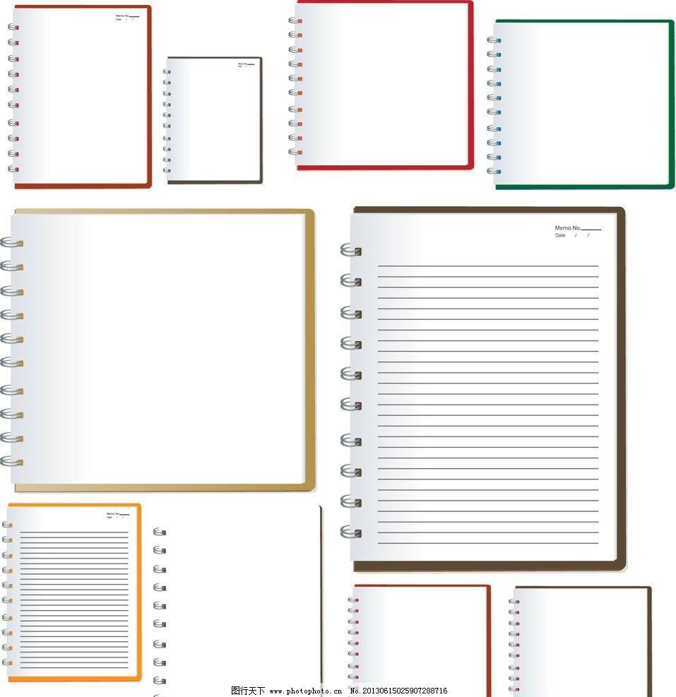 信纸 书信 纸张 笔记本 白纸 复古纸张 记事本 矢量图片