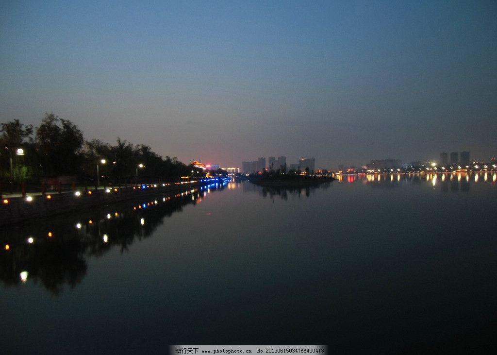 汉中夜景 汉江 汉江夜景 汉江南岸夜景 汉江全景 汉江夜晚 建筑景观