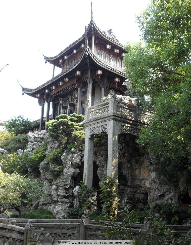 苏州园林 绿色 苏州 园林 假山 古建筑 亭子 山水 园林建筑 建筑园林