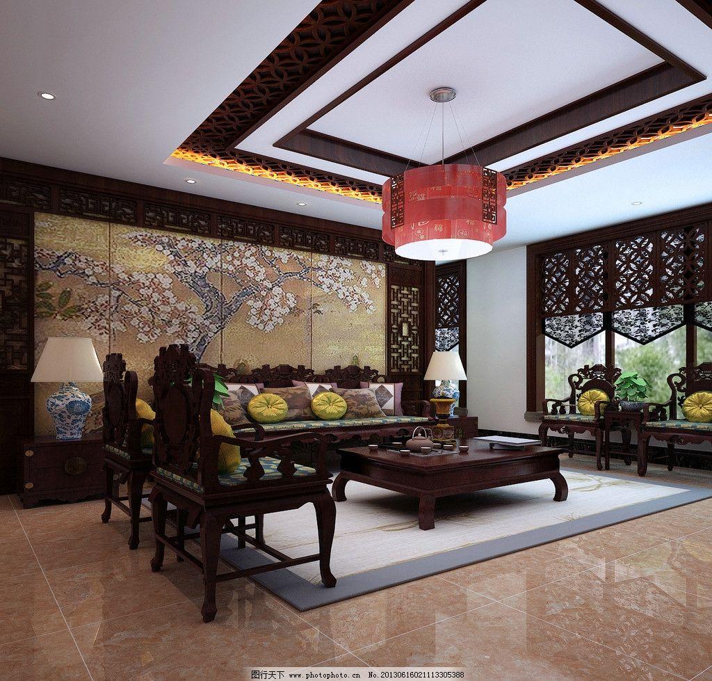 室内设计 效果图 装修装饰 客厅 桂林装饰 鼎合 实木沙发 茶几