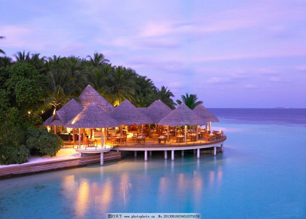 马尔代夫巴洛斯岛风光 马尔代夫 巴洛斯岛 Maldives Baros 度假 旅游 摄影 海滩 沙滩 海岛 海边 度假屋 酒店 餐厅 傍晚 灯光 马尔代夫塞舌尔 国外旅游 旅游摄影 300DPI JPG