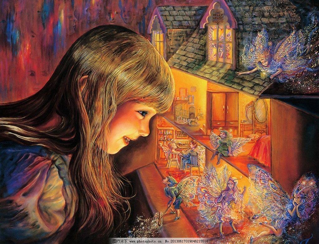 欧美手绘插画 人物 精灵 欧美 手绘 插画 经典 绘画书法 文化艺术