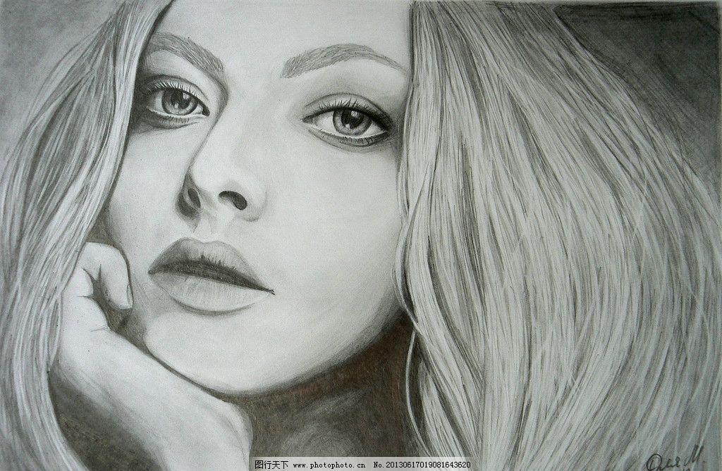 欧美美女素描图图片