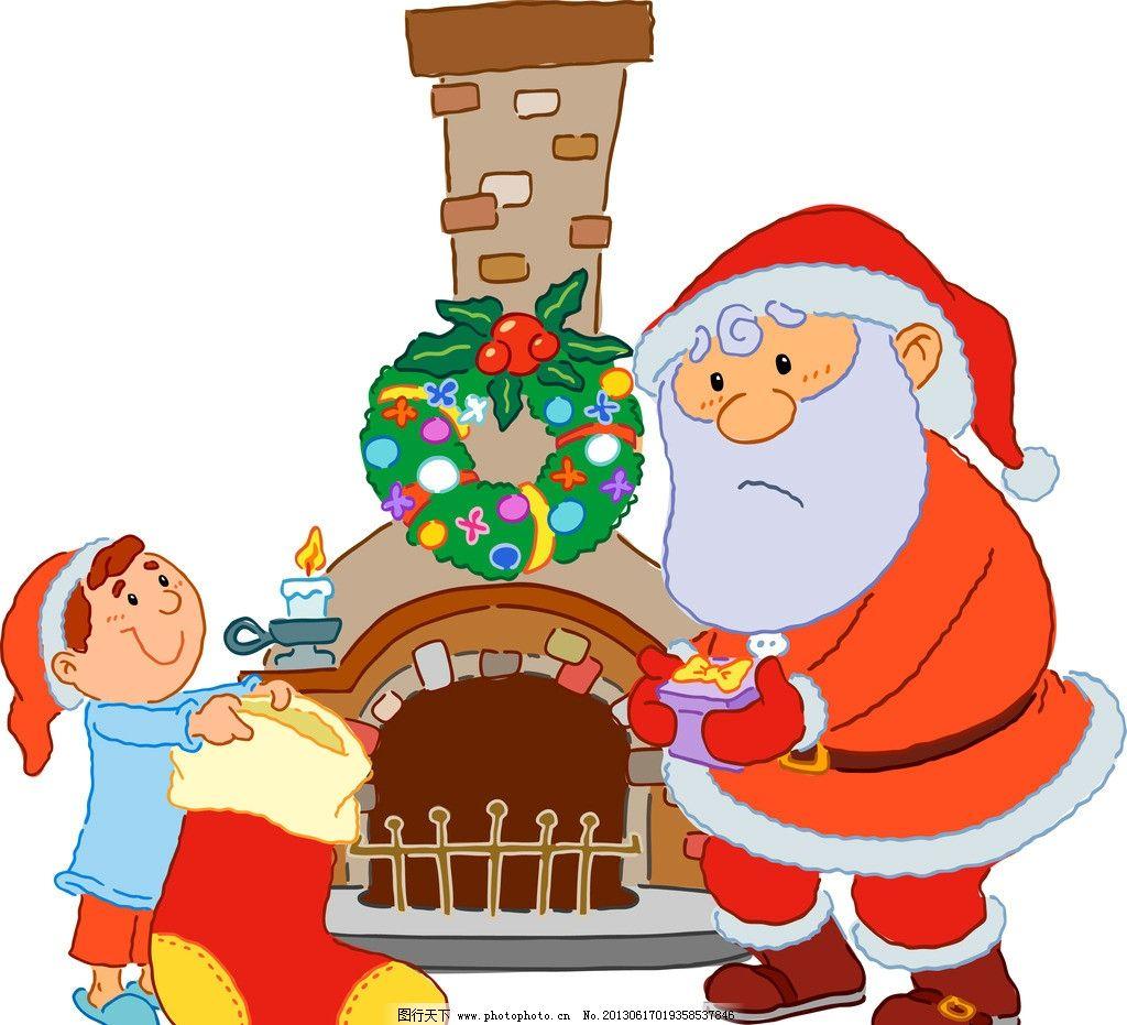 草环 蜡烛 礼物 圣诞素材 圣诞背景 圣诞海报 手绘 背景 底纹 矢量