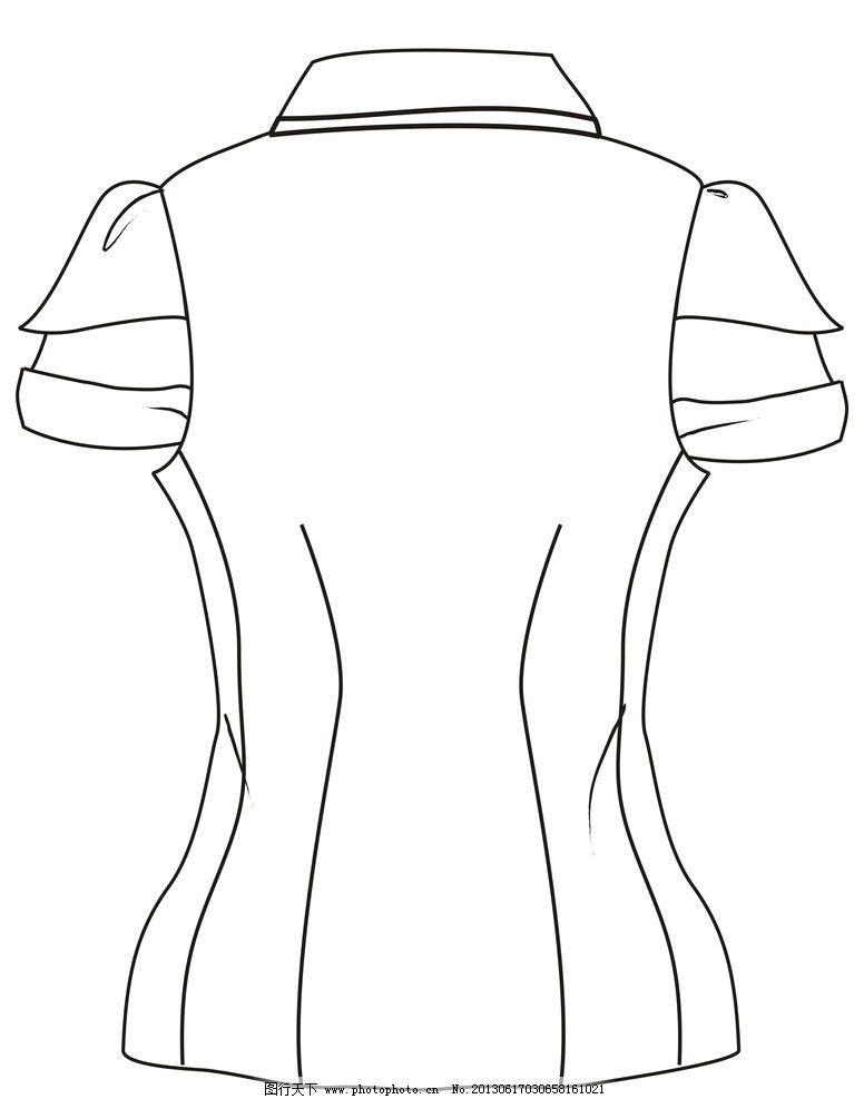 女衬衫 衬衫 泡泡袖 省道 修身 可爱 服装设计 广告设计 矢量 cdr
