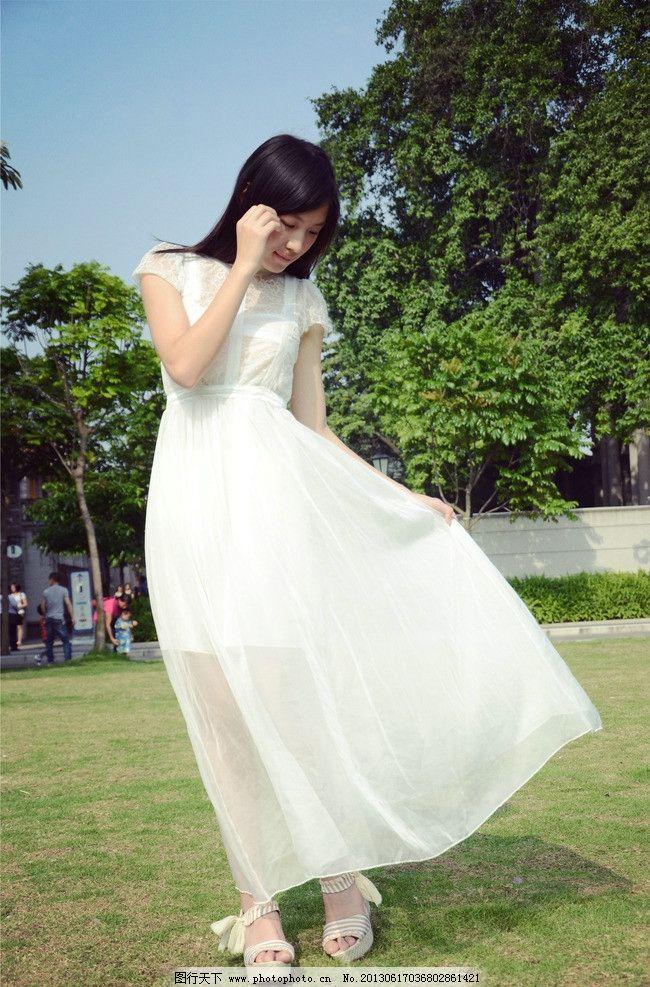 白裙美女 清纯美女 气质美女 可爱美女 青春靓丽 活力青春 长发美女