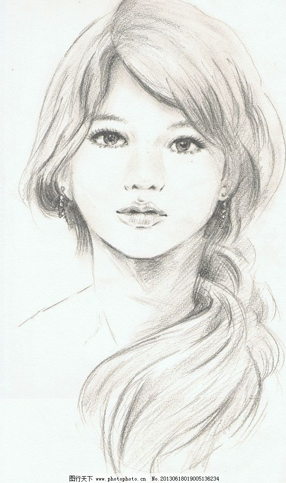 素描人物图片