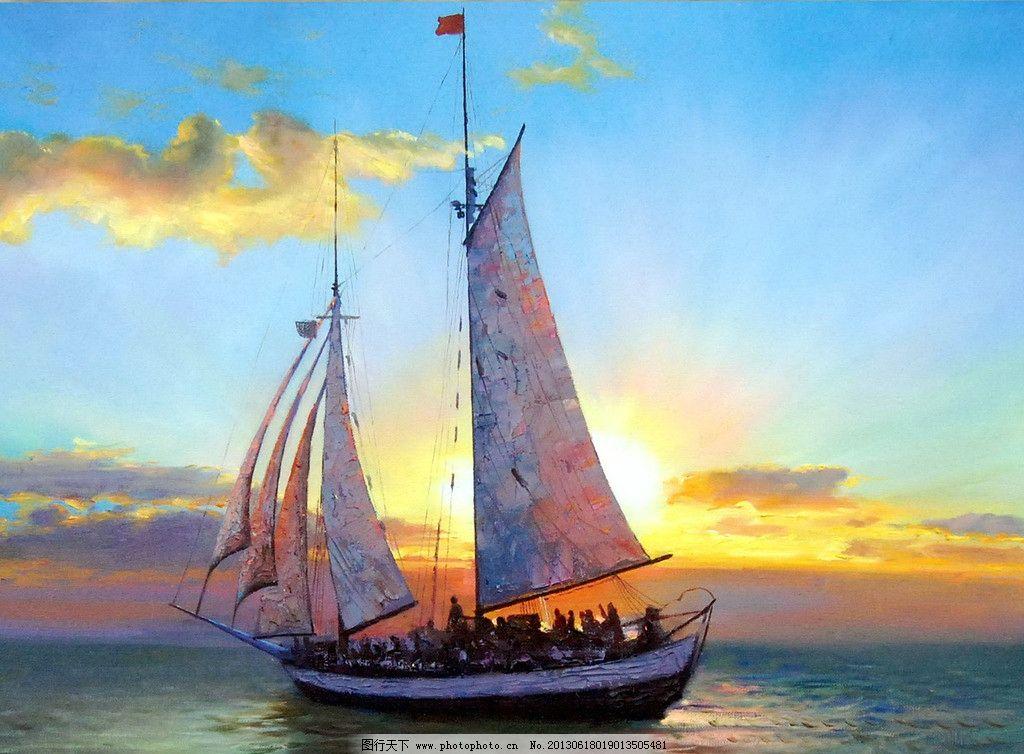 海上帆船图片