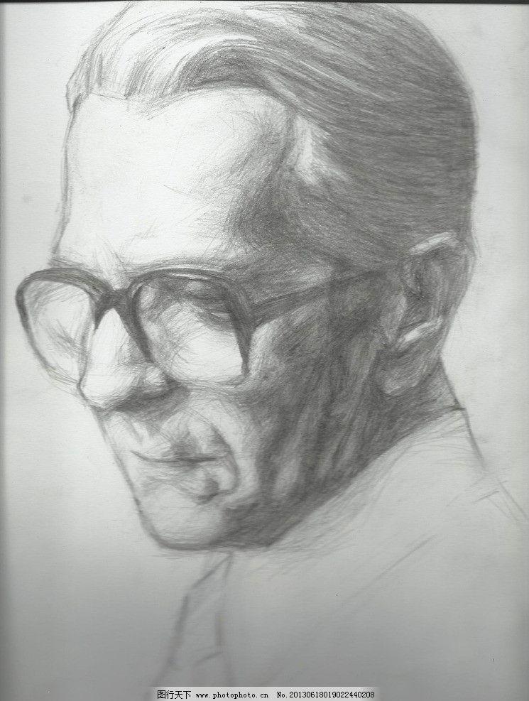 男头像素描图片