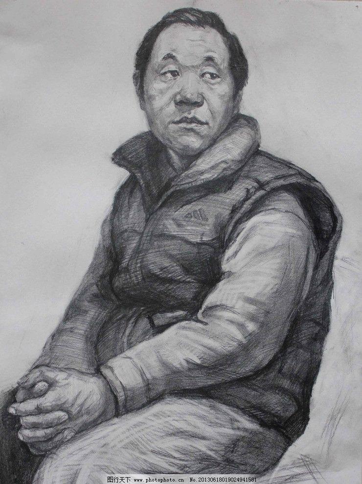 素描 男头像设计素材 男头像模板下载 男头像 绘画 美术 艺术 半身像
