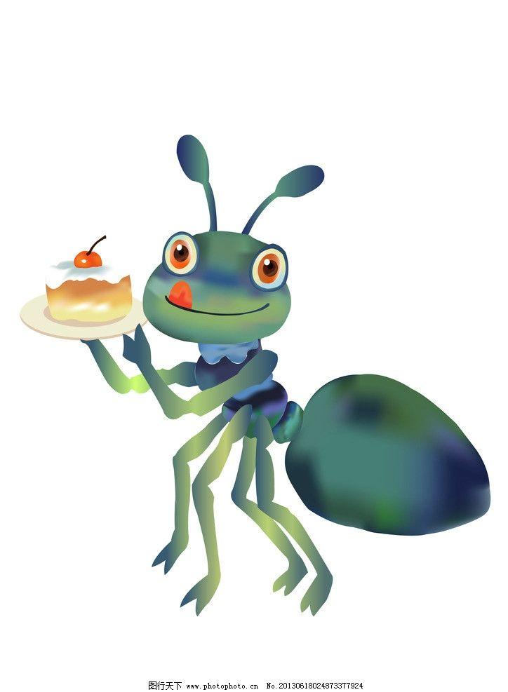可爱蚂蚁 矢量蚂蚁 彩色蚂蚁 小蚂蚁 拟人蚂蚁 昆虫 生物世界 矢量