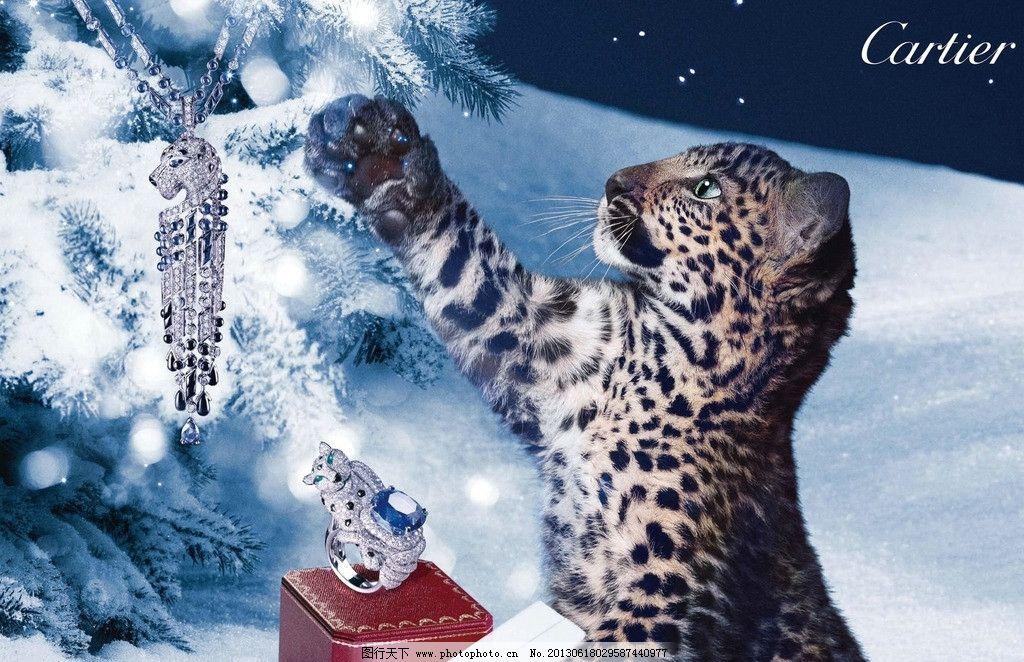 卡地亚广告 卡地亚 cartier 珠宝首饰 法国      豹子 广告设计 设计