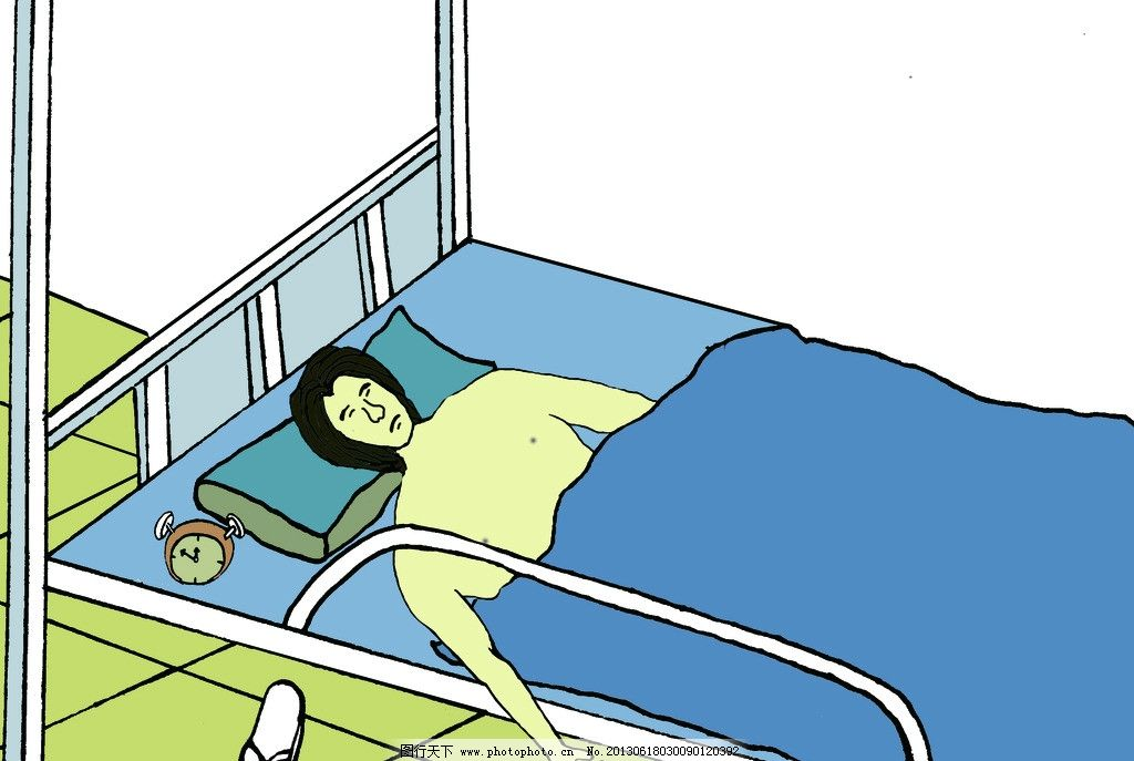 宿舍睡觉卡通图片