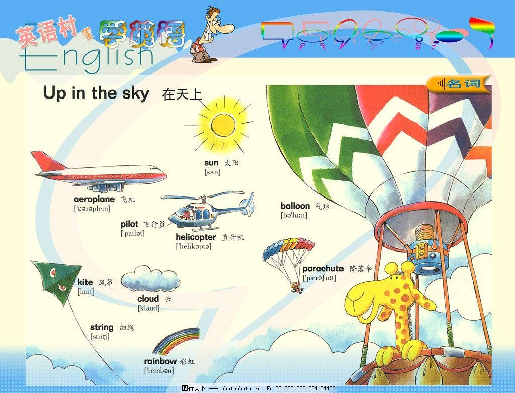 英语城 英语单词 卡通 可爱 学校 校园 展板 模板 其他模版