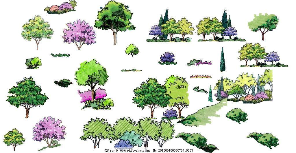 手绘植物立面 素材 ps 植物 立面 手绘 其他 psd分层素材 源文件 150