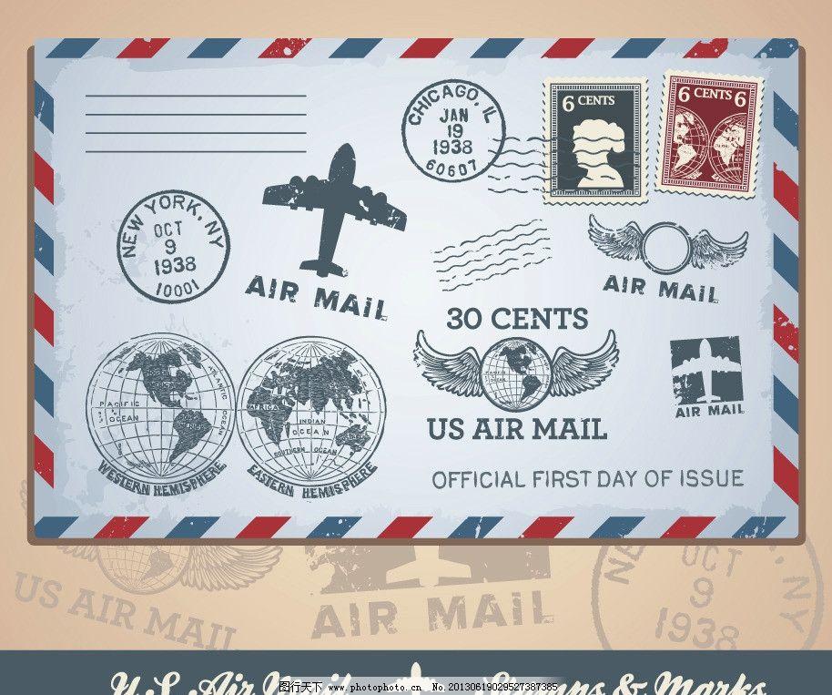 信封邮票邮戳图片图片