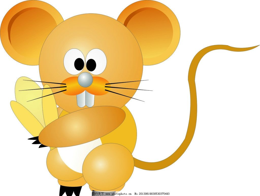 卡通老鼠 动物 玉米 矢量