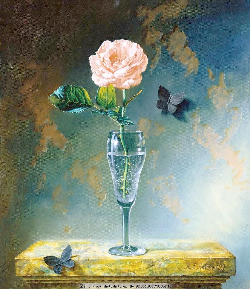 油画花卉静物图片