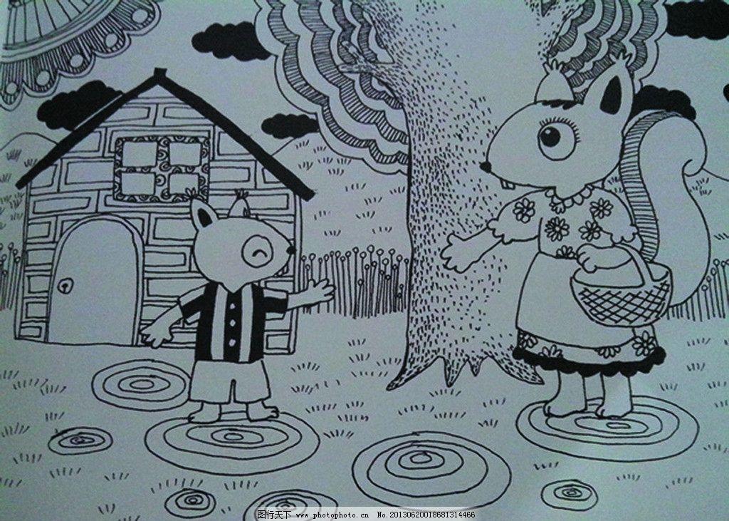 动物卡通绘画图图片