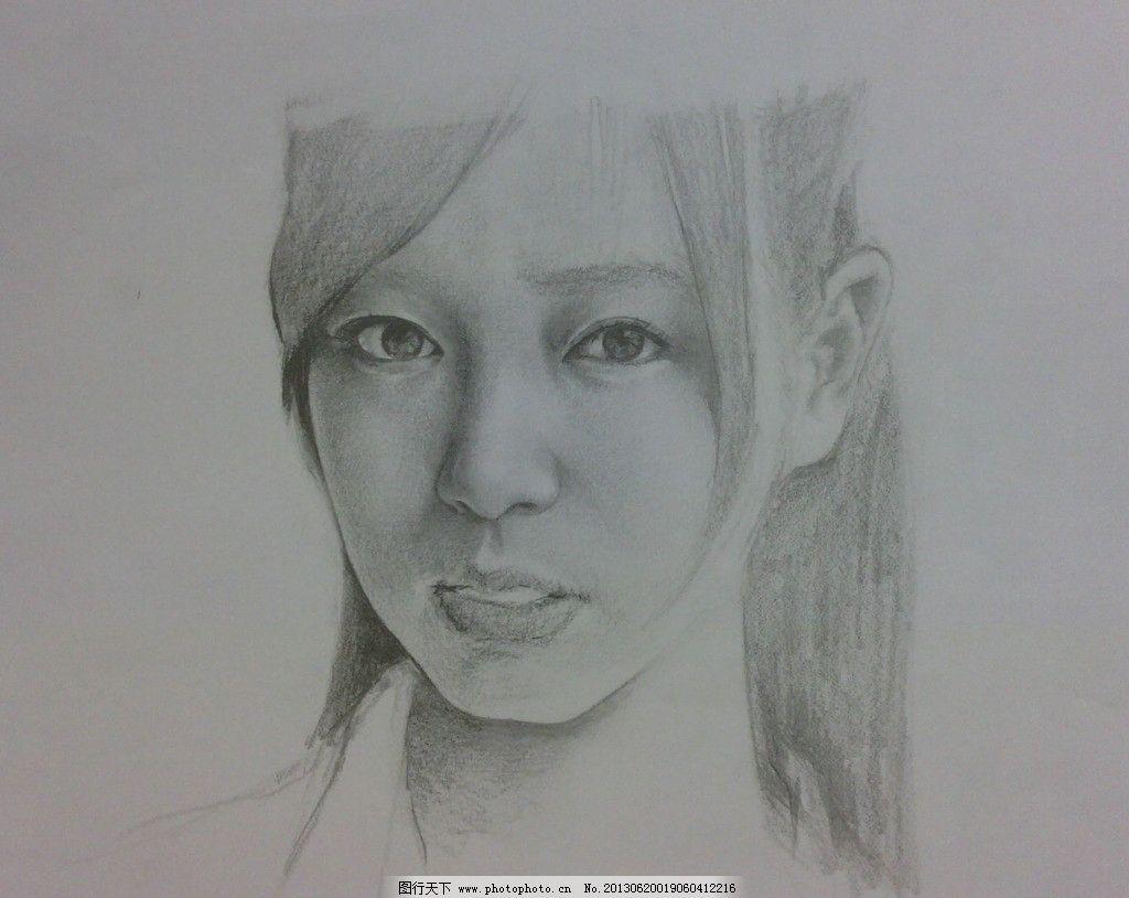 女头像素描模板下载 绘画 头发 青年 美术 艺术 人物      女人 绘画