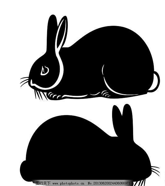 兔子剪影 时尚 兔子 兔年 野生动物 生物世界 节日素材 矢量 cdr