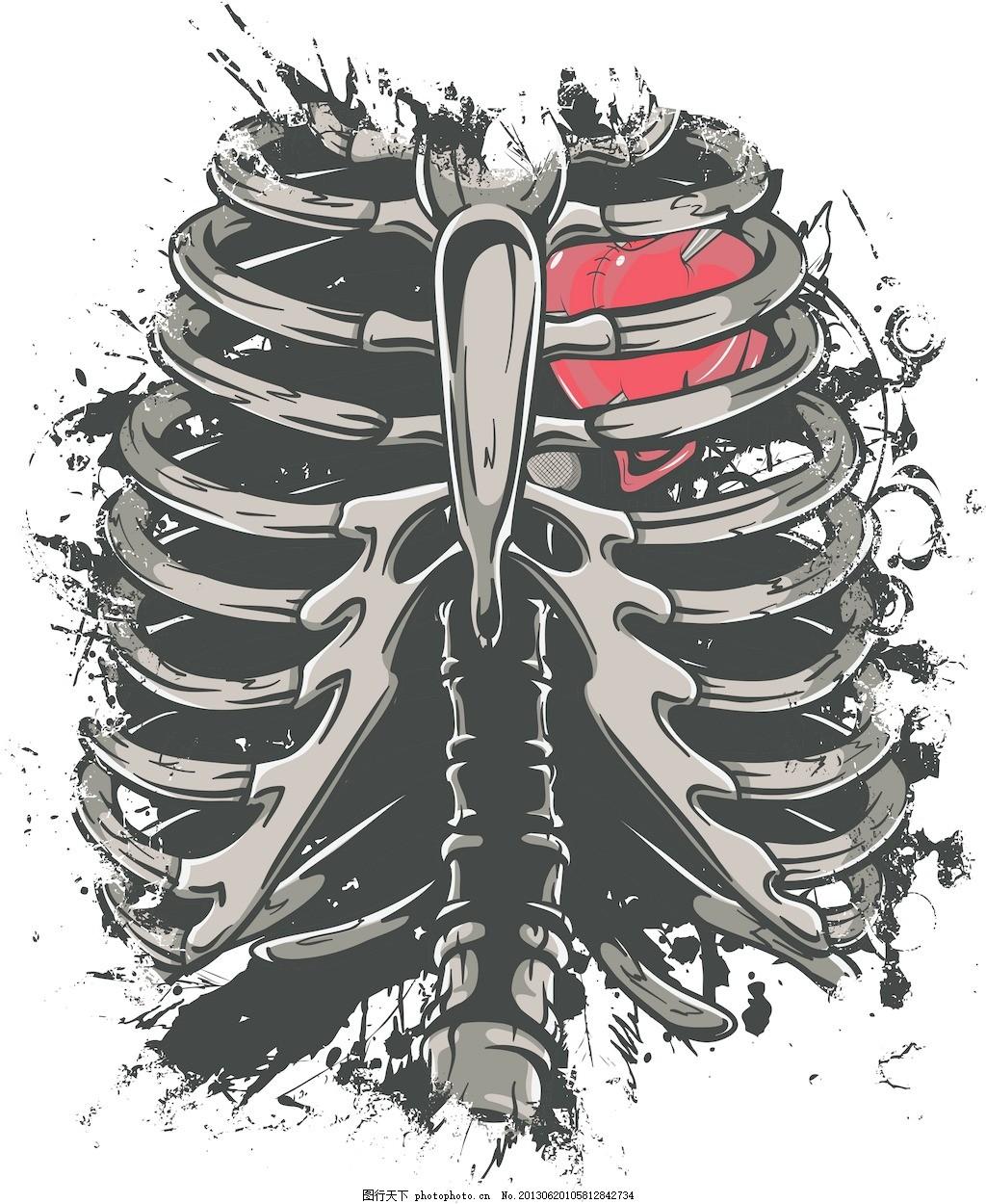 骨架载体t恤设计