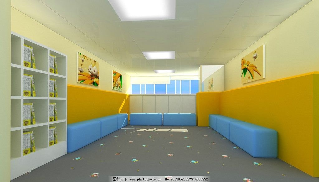 培训教室 艺术培训教室 儿童艺术 艺术培训 装修设计 设计图 室内设计