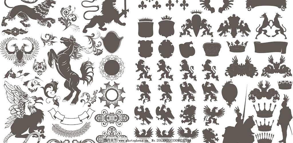 卡通动物  cdr logo 翅膀 底纹边框 狗 花边 花纹 皇冠 鸟 其他 国外