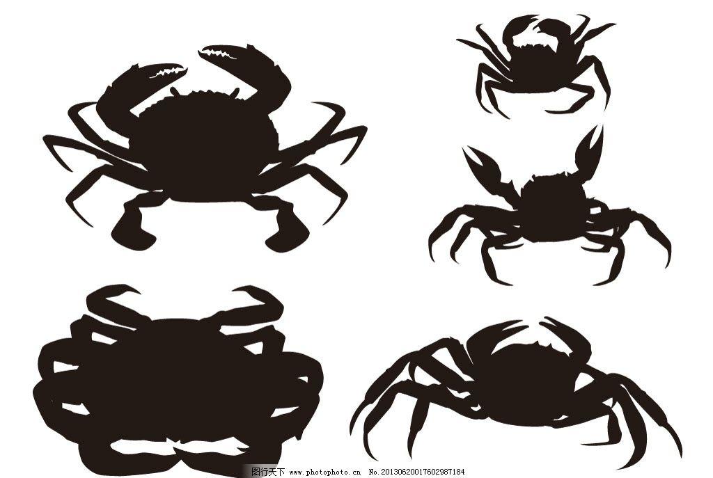 螃蟹模板下载 蟹 海蟹 大蟹 大闸蟹 海鲜 海洋 海味 海洋动物 矢量