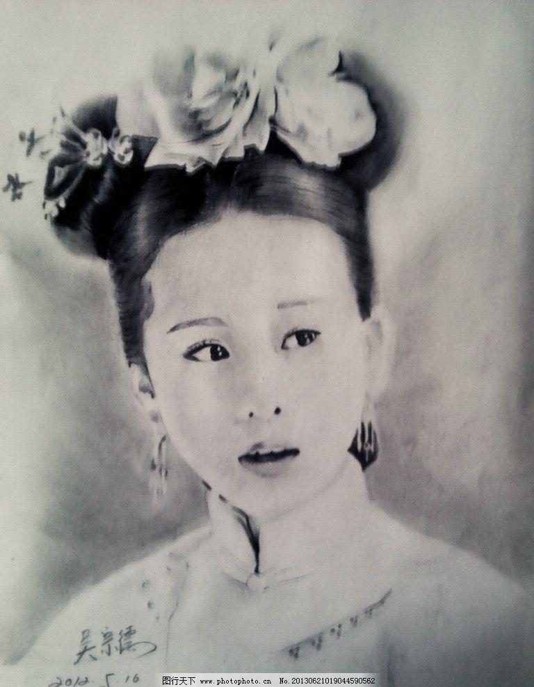 女头像素描设计素材 女头像素描模板下载 绘画 头发 青年 美术 古代