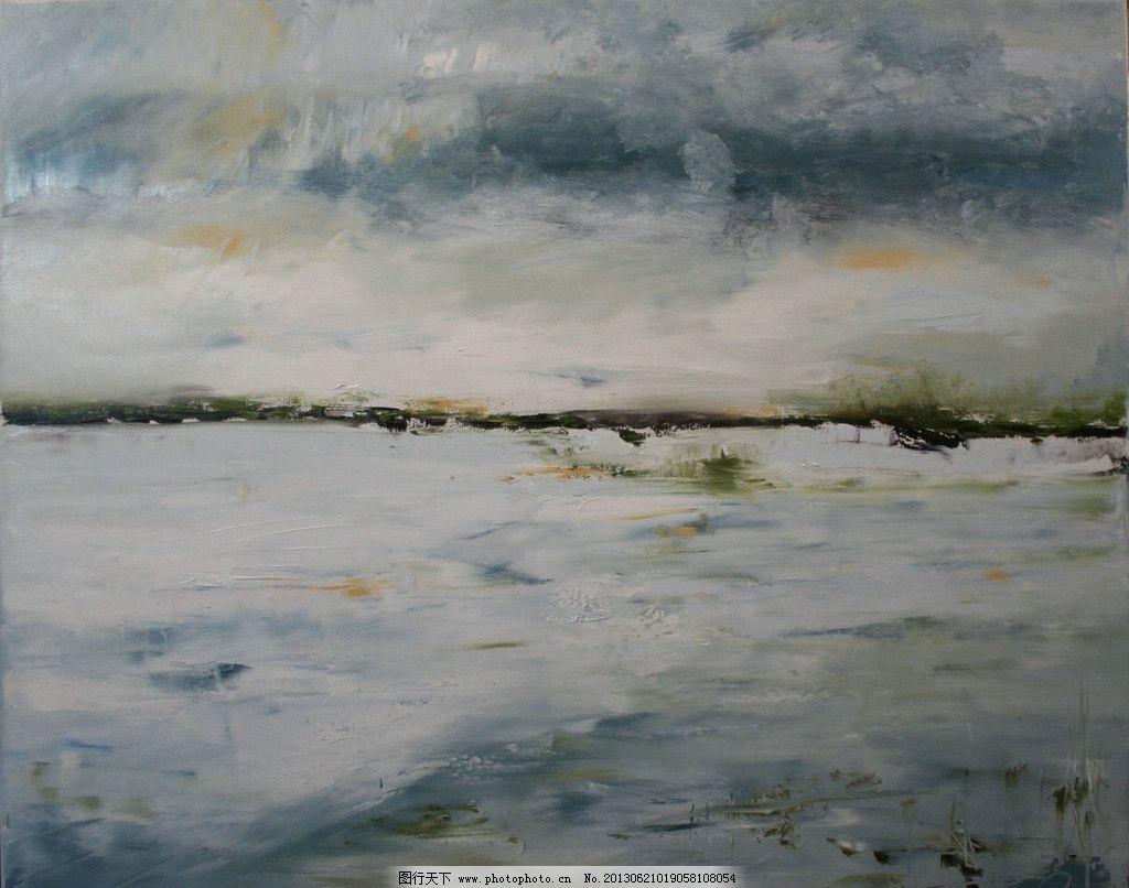 油画风景 艺术 绘画 油画艺术 手绘 高清壁纸 当代油画 绘画书法