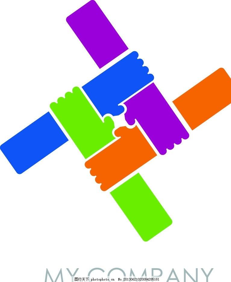 logo图标,标志 图标图标 团结 握手 商务 商业标志-图