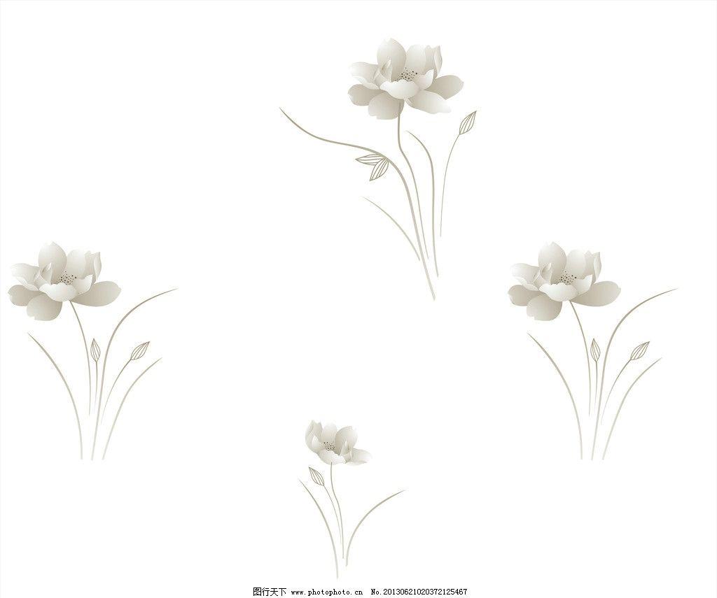 荷花花纹图片