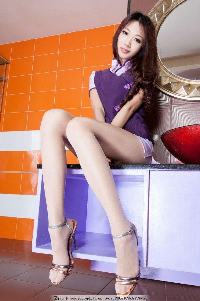 高跟鞋 鞋子 丝袜 袜子 连裤袜 黑丝袜 丝袜美腿 丝袜模特 模特 美女