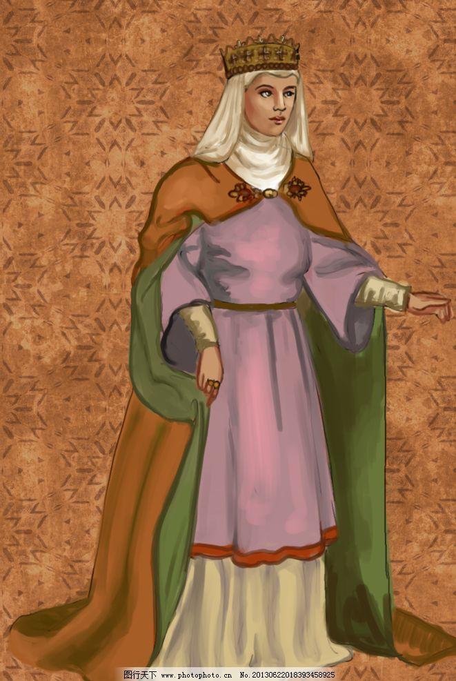欧洲中世纪服饰图片