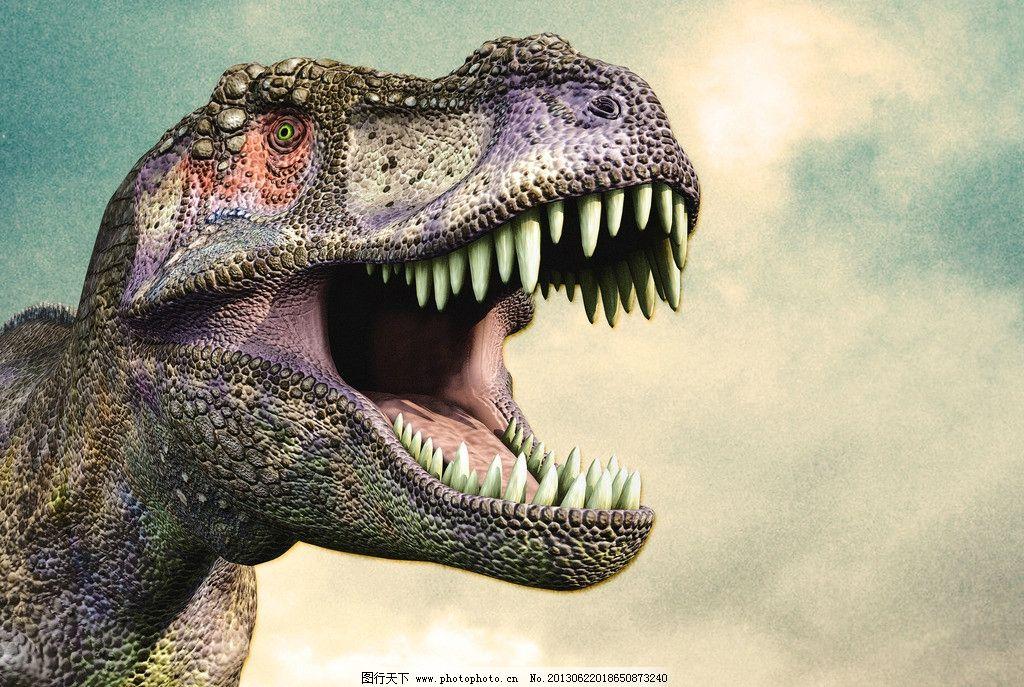 恐龙 牙齿 侏罗纪 动物 天空 动漫 动漫动画