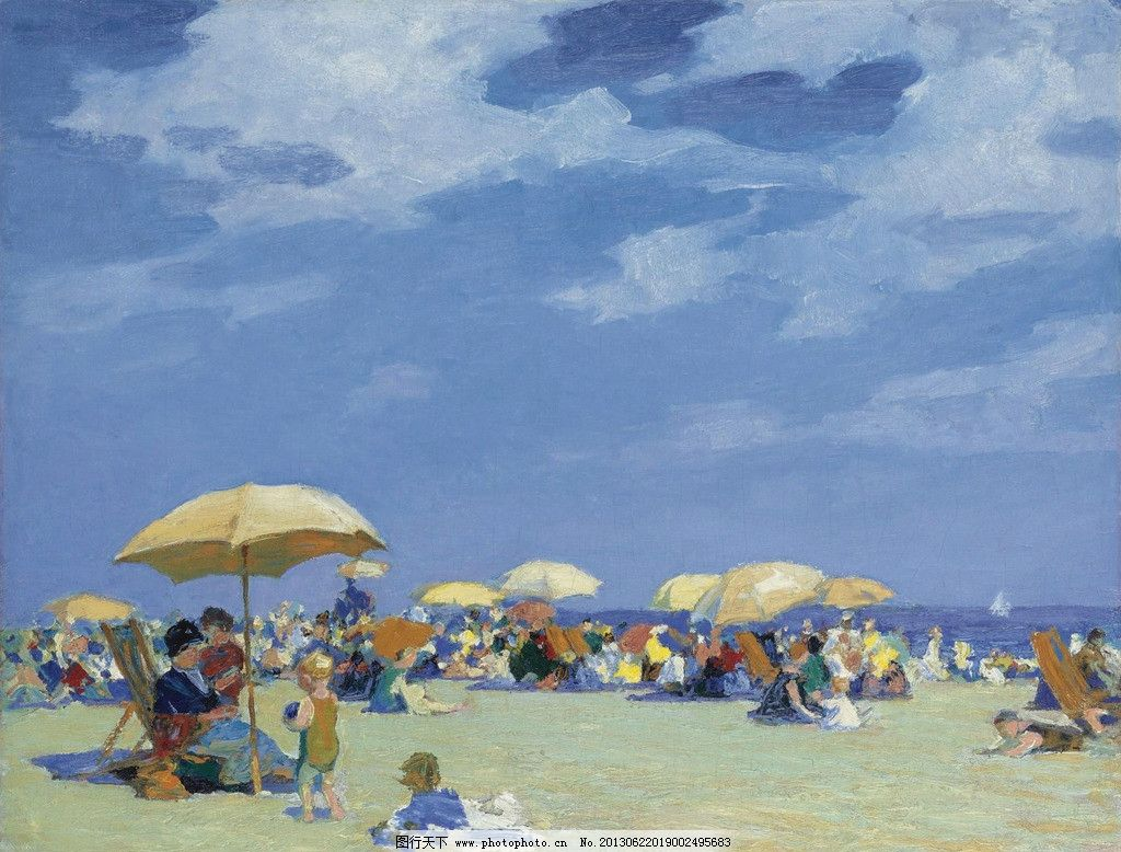 Famous Beach Scene Paintings