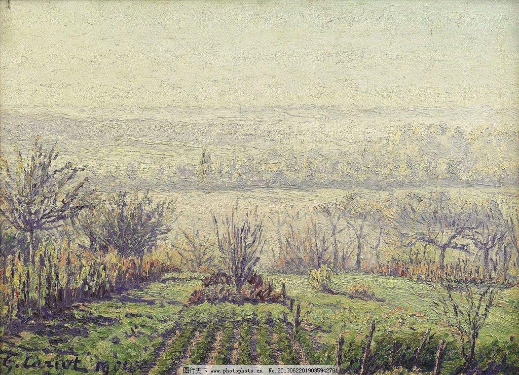 田园油画图片