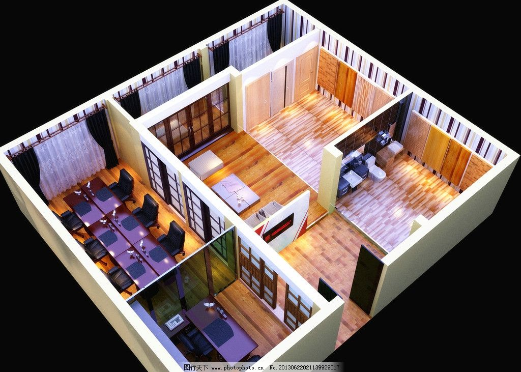 装修公司        装修 公司 材料区 办公区 3d设计 设计 72dpi jpg