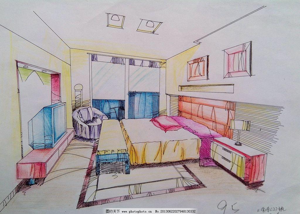 彩铅手绘表现效果图 手绘 室内 表现 效果    设计 彩铅 室内设计