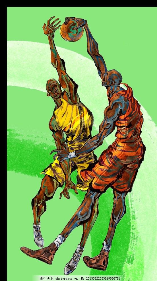 手绘人物 手绘运动员 运动员 篮球运动员 篮球 nba cba 科比 投篮