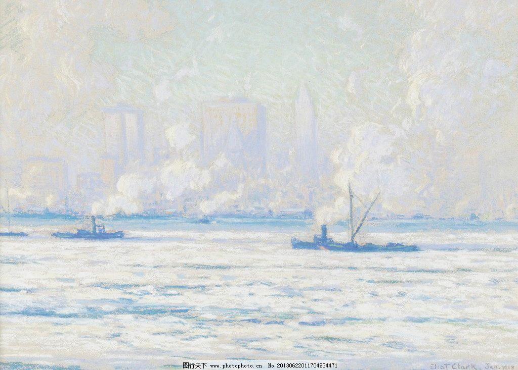 大海油画图片