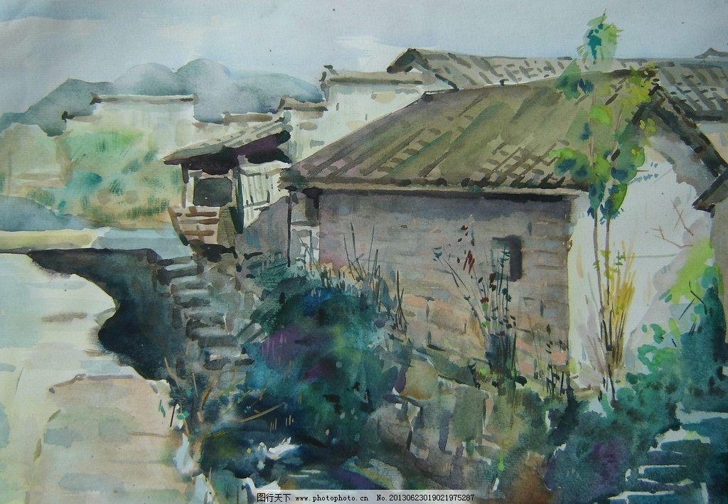 水彩画 绘画书法 文化艺术 设计 房子 建筑 72dpi jpg