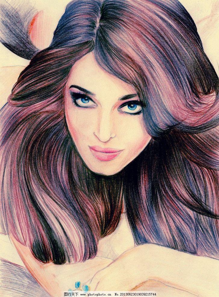 手绘印度美女图片,明星偶像 好莱坞 印度影星 性感-图