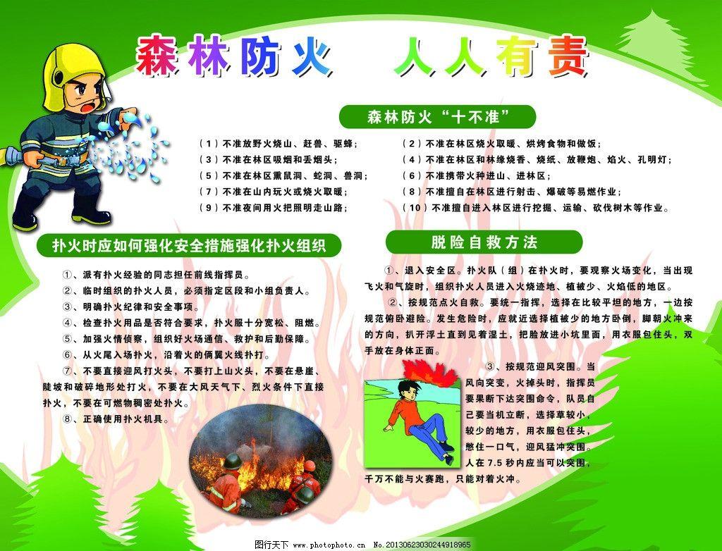 森林防火宣传板图片