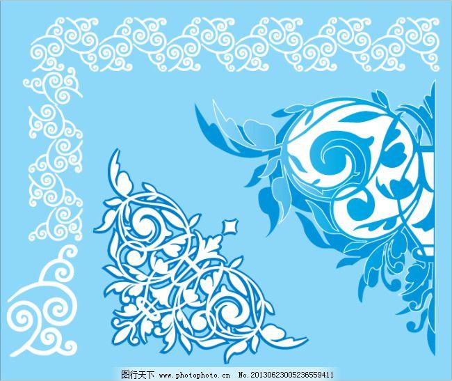 欧式图案 时尚 角花 花边 边框 外框 花纹设计 纹样 抽象 卡片 欧式图