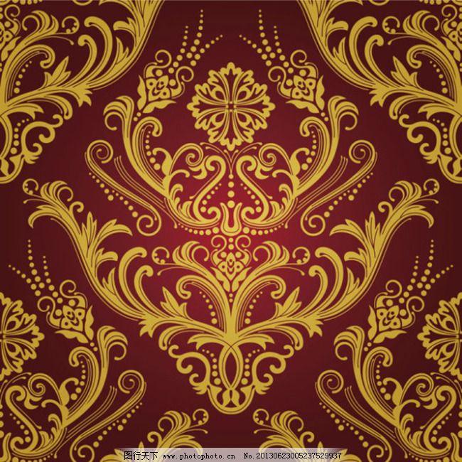 欧式华丽背景底纹图案 暗纹 大花纹 复古花纹 古典 花纹底纹 华丽底纹