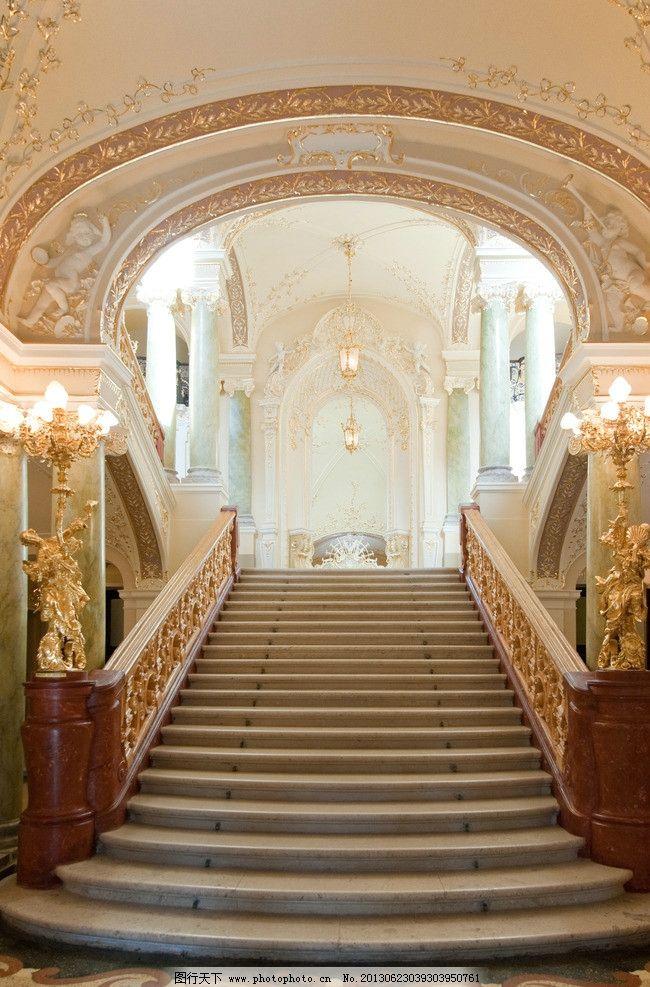 欧式建筑 台阶 楼梯 教堂 大厅 金碧辉煌 壮观 雕塑 壁画 天花板 大殿