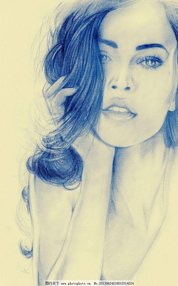 梅根福克斯 美女 明星偶像 好莱坞 变形金刚 彩铅 手绘美女 素描人像